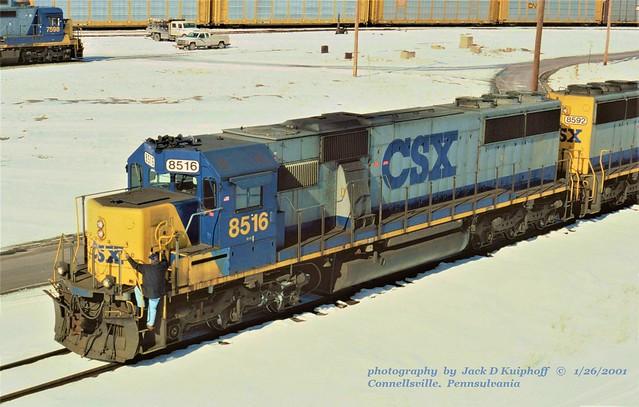 CSX 8516, Connellsville, PA. 1-26-2001