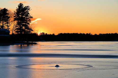 frozen lake mascuppic sun sunset orange day winter light reflections sky day21 dracut lowell evening dusk 366the2020edition 3662020 day21366 21jan2020
