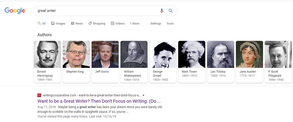 Want to be a Great Writer? Rank 1st on Google!