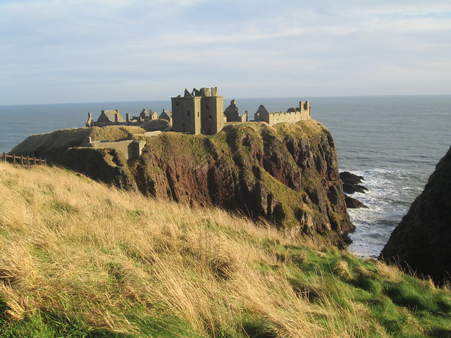Dunnottar Castle from path