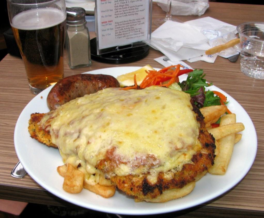 Pork Snitzel, Wentys, Wentworthville, Sydney, NSW.