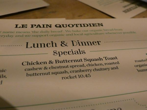 chicken and butternut squash toast