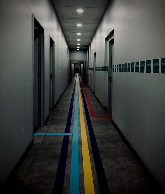 Follow the lines #iphone #tunnel #paris #vanish #door #building #lines