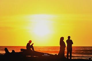 sunset pantai Sahbandar
