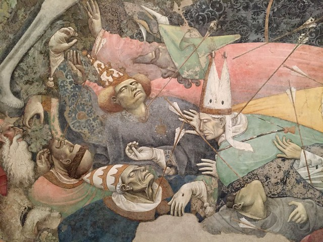 Detail of The Triumph of Death fresco at The Palazzo Abatellis in Palermo, Sicily.
