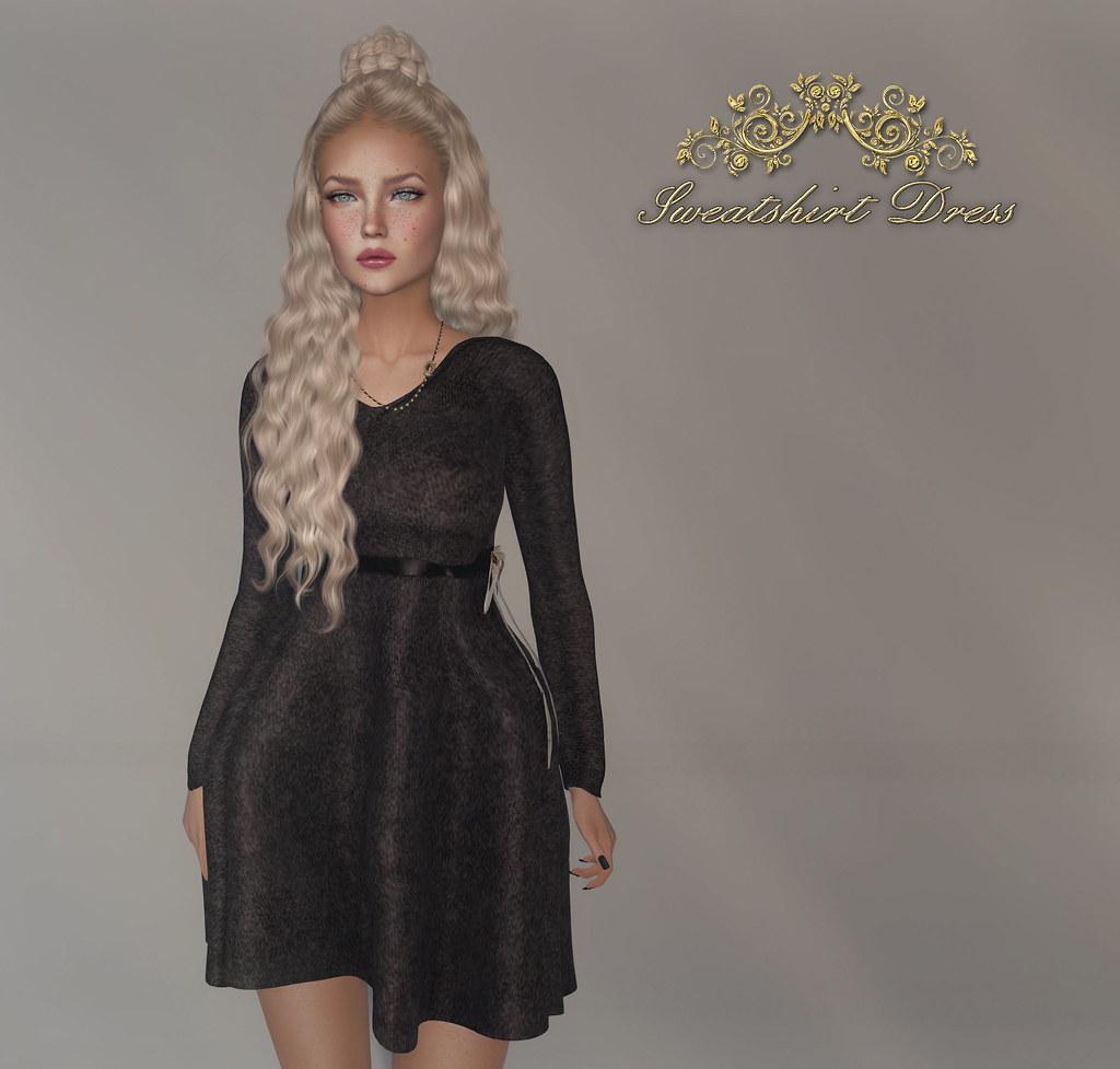 -siss boom-sweatshirt dress ad