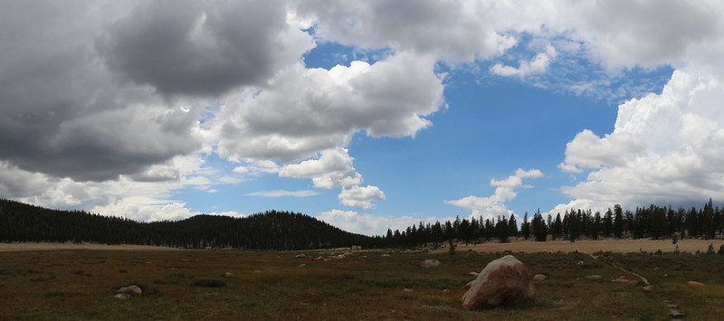 There was still plenty of blue sky back to the west, but not ahead of us on the Sierra Crest