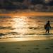 Surfing At Dusk by jrpopfan