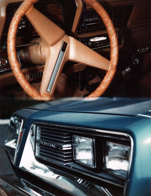 A friend of mine owned one of those Polaroid cameras which could take two images on one frame. Naturally, I shot the dashboard of my brand new 1979 Pontiac Sunbird as well as the car's grille in one photo. Milford, CT. August 1979