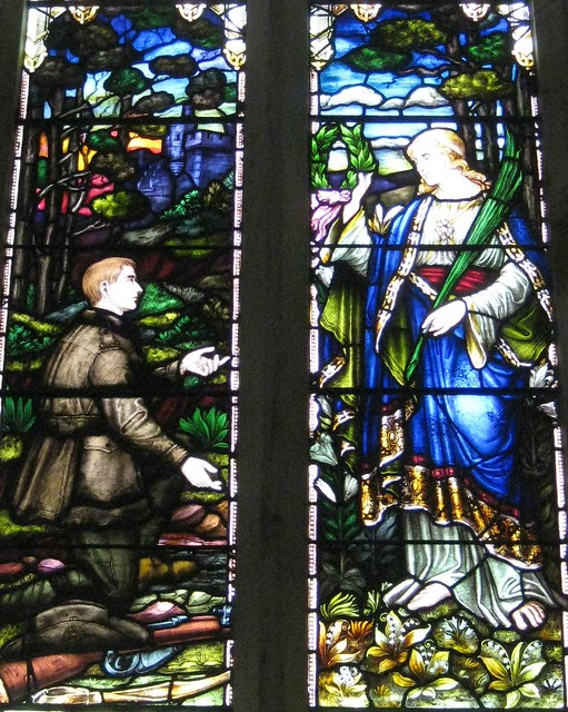 Detail of the Great War Memorial Window by William Montgomery; The Former Saint George's Presbyterian Church - Corner Latrobe Terrace and Ryrie Street, Geelong