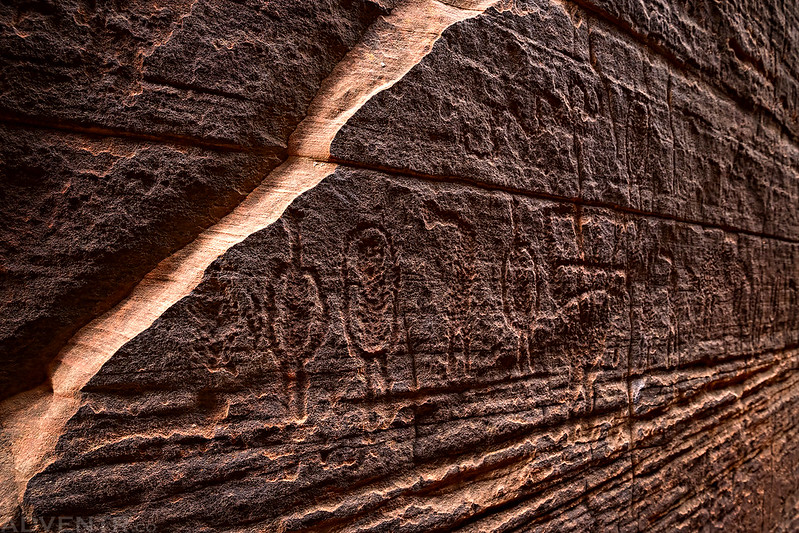 Slot Canyon Petroglyphs