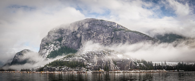 Clouds over Stewamus Cheif Granite Monolith #2 , Squamish, BC, Canada