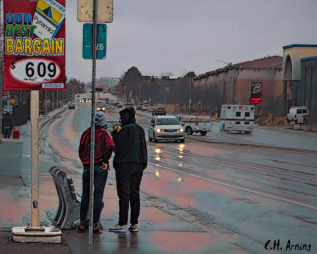 Rainy Bus Stop