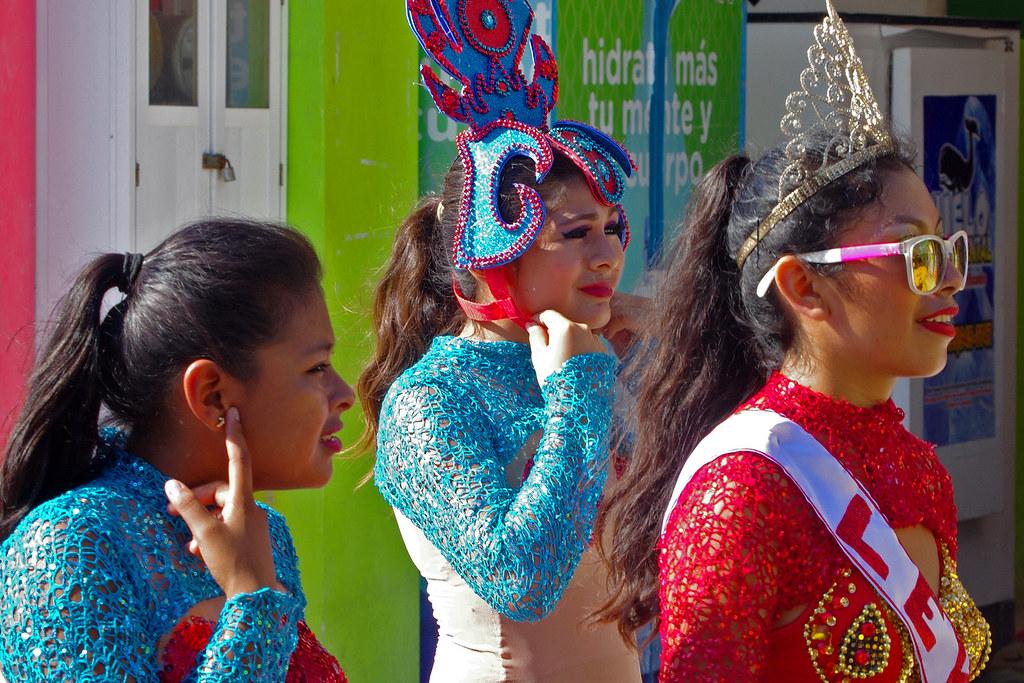 Carnival dancers in Sisal, Yucatan, Mexico.