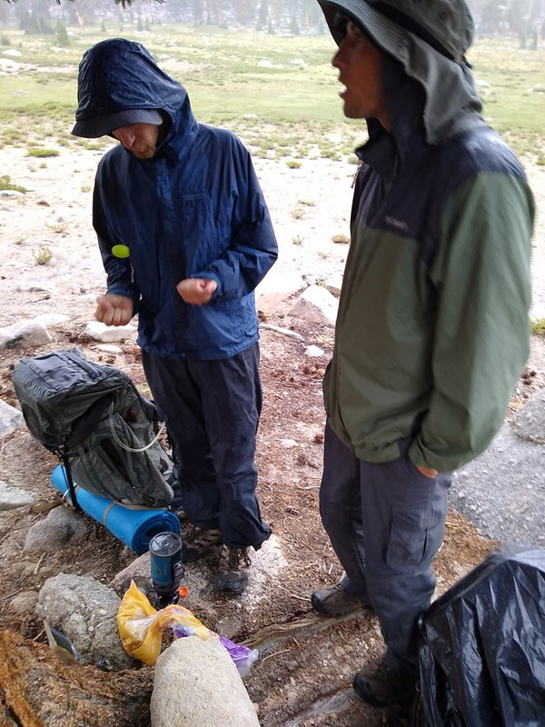 These guys could cook food at any time, but we needed the warmth to stop the rain from giving us hypothermia