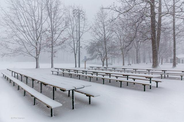 Snow storm in Kew Gardens - Toronto