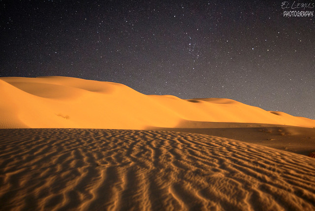 Mexicali Dunes, With Stars.Mexico