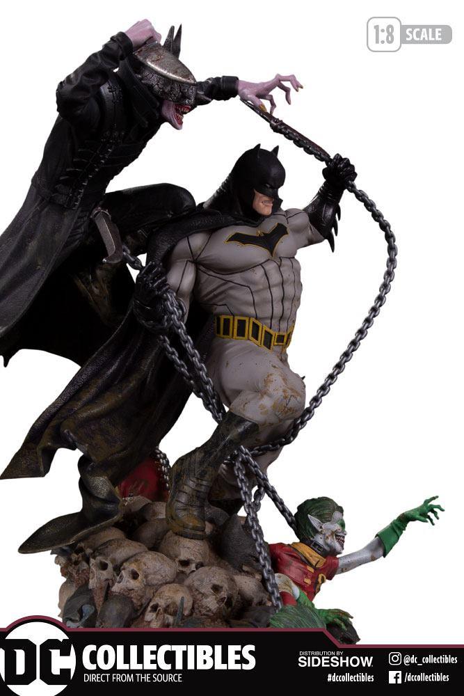 瀰漫著濃厚的末日氛圍! DC Collectibles《Dark Nights: Metal》大笑蝙蝠俠 VS. 蝙蝠俠 The Batman Who Laughs VS. Batman 1/8 比例全身雕像