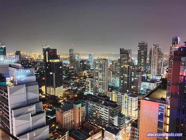 bangkok night view hilton