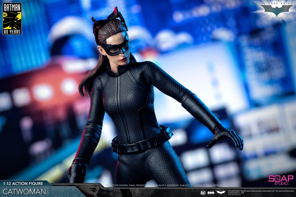 Soap Studio《黑暗騎士:黎明昇起》貓女 The Dark Knight Trilogy - Catwoman 1/12 比例可動人偶