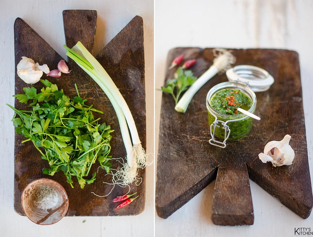 Tri tip con salsa chimichurri