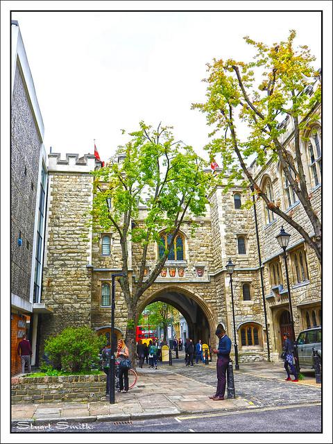 St John's Gate, St John's Lane, Clerkenwell, Farringdon, London, England UK