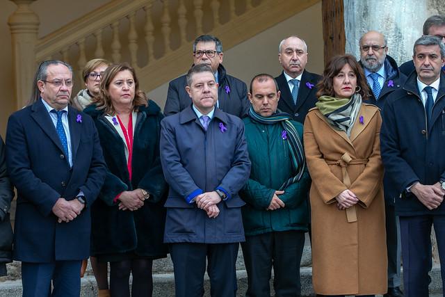 Concentración en repulsa del último asesinato machista registrado en Castilla-La Mancha