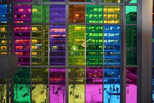 architecture montrealquebec montréal palaisdescongrès abstract architecturedetails buildings colors windows cities urban snow winter colorfulwindows structures
