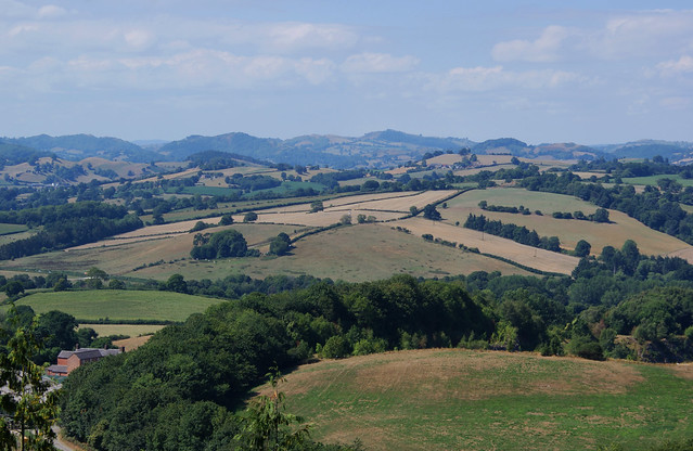 View west from Llynclys Hill, Shropshire