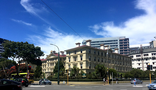 <p>This is the largest wooden building in the Southern Hemisphere, the Old Parliament Buildings, now the Law School for Victoria University of Wellington</p>