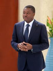 Photo prise lors de la présentation des voeux par Emmanuel PITA, photo graphe du chef de l'Etat
