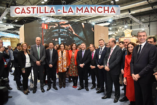 Inauguración del stand de Castilla-La Mancha en FITUR
