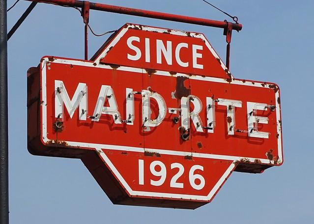 IL, Galesburg-U.S. 150 Maid-Rite Neon Sign