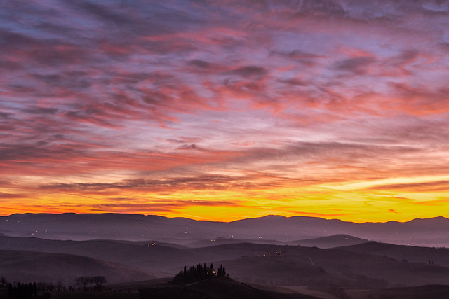 Today morning in San Quirico d'Orcia