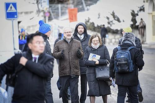21.01.2020. Valsts prezidents Egils Levits piedalās Pasaules ekonomikas forumā Davosā - otrā diena, viņu pavada Andra Levites kundze