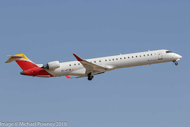 EC-JZT - 2007 build Bombardier CRJ900ER,  Iberia colours but no titles