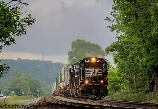 SD60 leading NS 201. Elliston, Va.