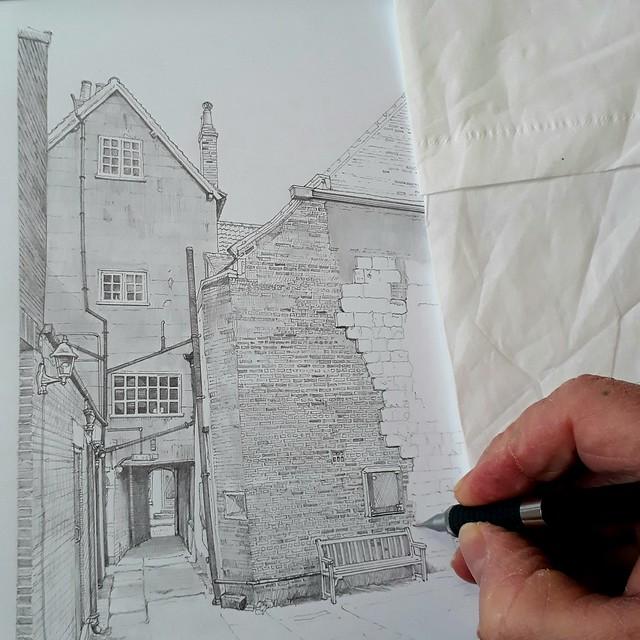An alleyway in York (WiP 2)