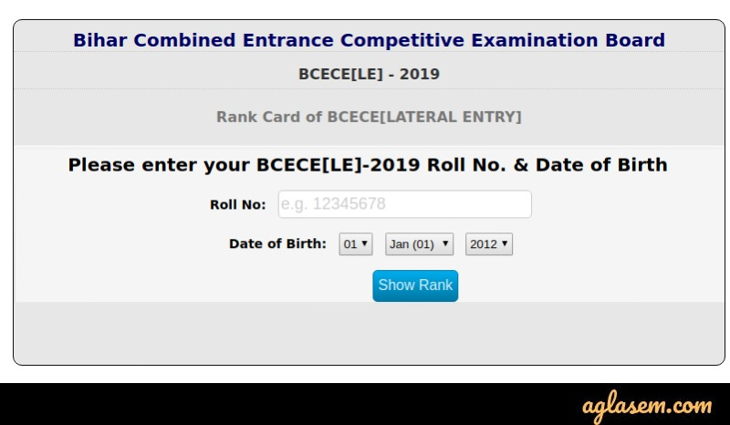 BCECE LE 2020 Result