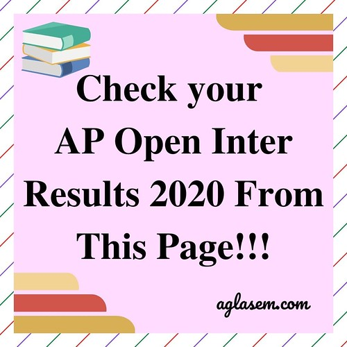 AP Open Inter Results April 2020 | APOSS 12th Result April 2020
