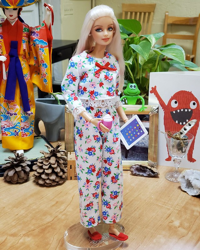 I love these older Barbie PJs - they're very soft and stretchy.