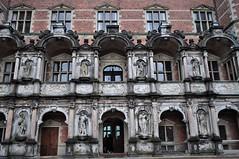 Aile du roi, cour intérieure, château de Frederiksborg (XVIe-XVIIe), Hillerød, Sélande, Danemark.