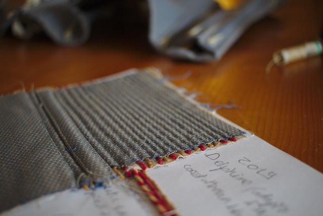 Corset cordé, échantillonnage