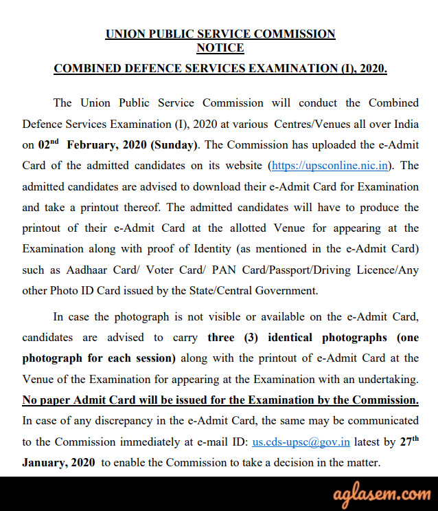 CDS 2020: Result, Cut Off for CDS 1 2020