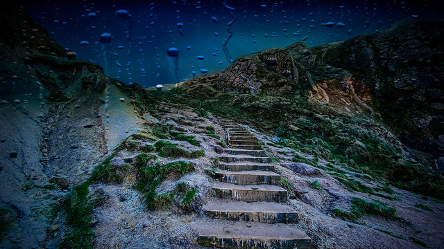 The rain and stairs ... 💙