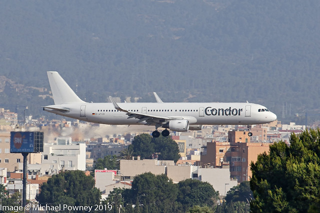 D-ATCG - 2014 build Airbus A321-211, inbound to Runway 06L at Palma