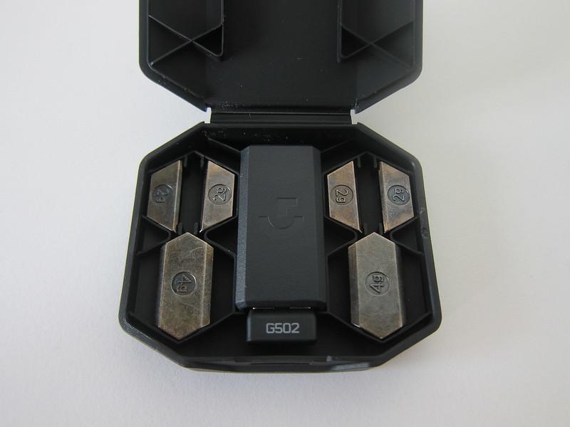 Logitech G502 Lightspeed - Weights And Receiver Case - Open
