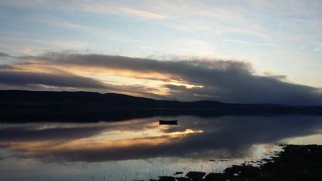 Afterglow across Beauly Firth, Black Isle, Dec 2019