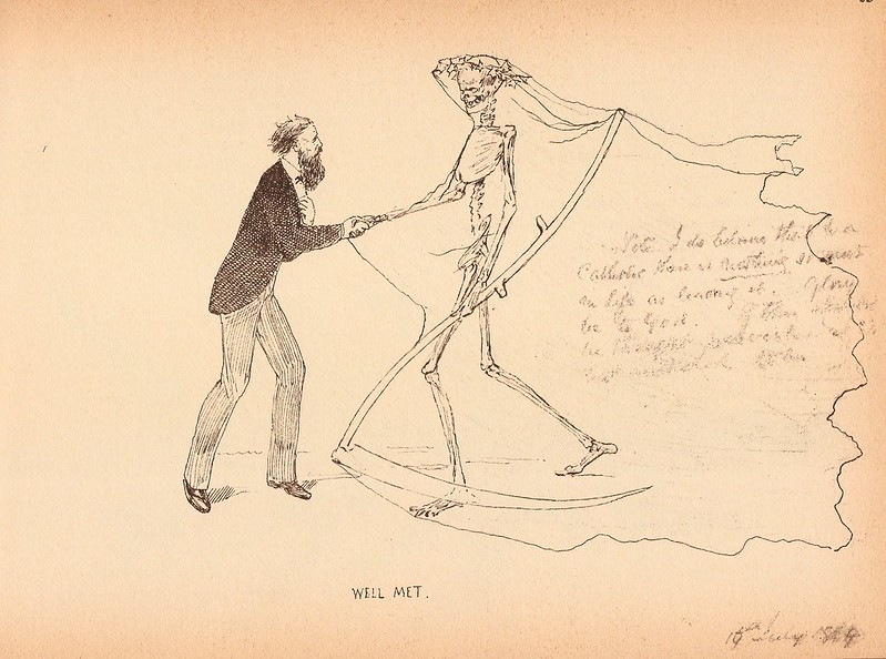 "Charles Altamont Doyle - Drawing from ""The Doyle Diary"" 1889 (1)"