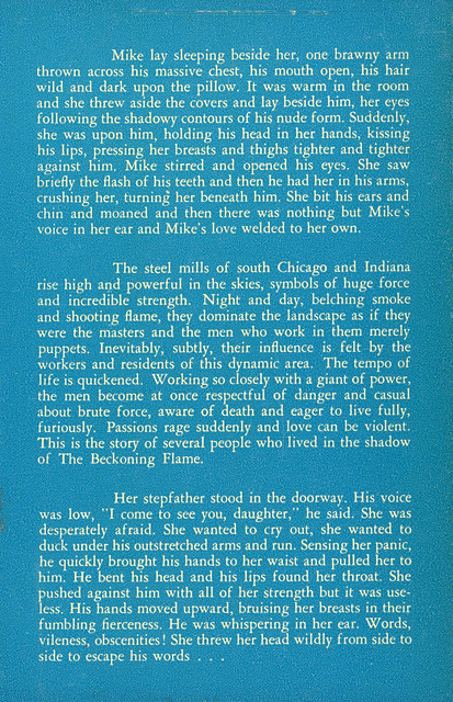 Newsstand Library 509 - Don Michaud - The Beckoning Flame (back)